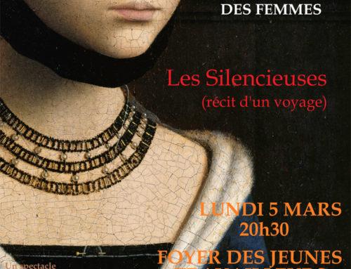 Représentation des Silencieuses à VICHY, organisée par la DDFE.